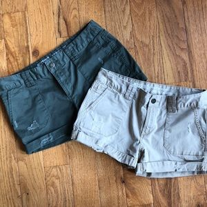 Mossimo Mid Rise Shorts Duo